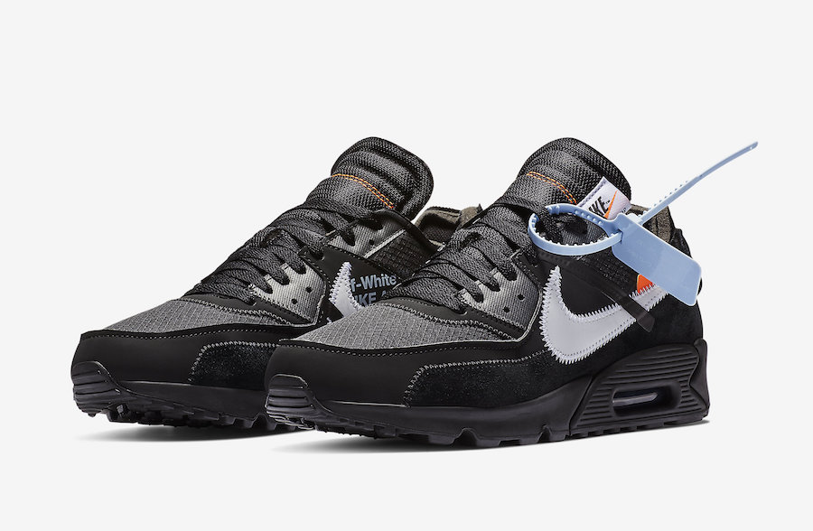 AA7293 001 Off White x Nike Air Max 90 Black 1