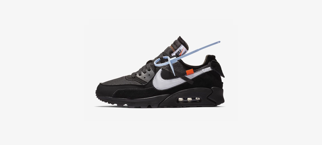 AA7293 001 Off White x Nike Air Max 90 Black 1110x500