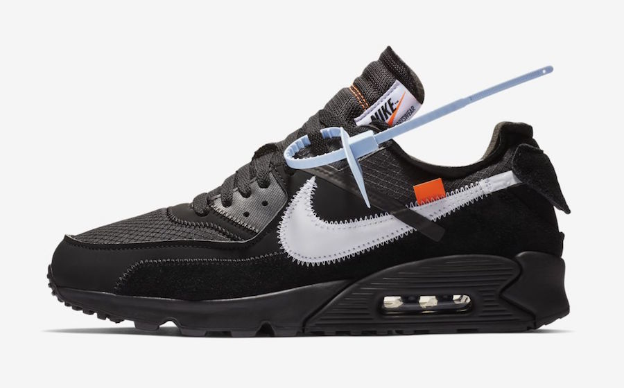 AA7293 001 Off White x Nike Air Max 90 Black 2