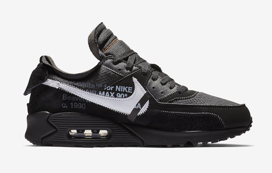 AA7293 001 Off White x Nike Air Max 90 Black 3