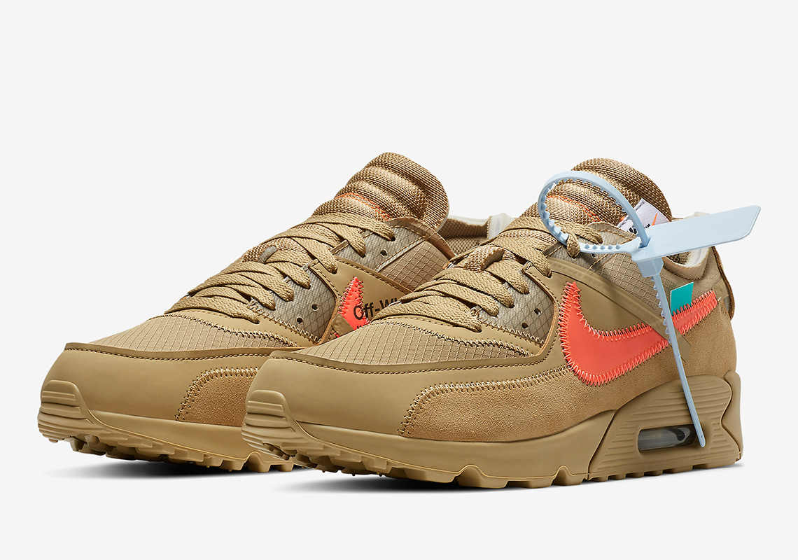 AA7293 200 Off White x Nike Air Max 90 Desert Ore 1