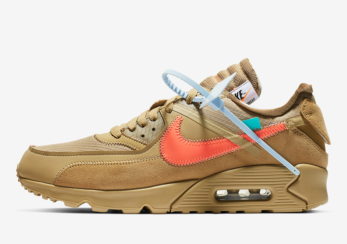 AA7293 200 Off White x Nike Air Max 90 Desert Ore 2