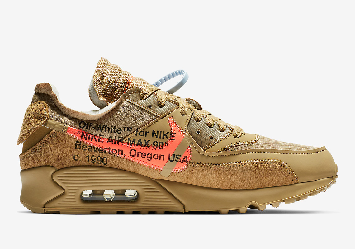 AA7293 200 Off White x Nike Air Max 90 Desert Ore 3