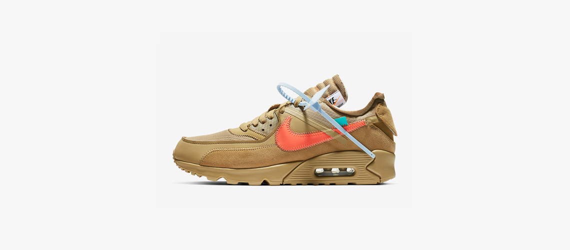 AA7293 200 Off White x Nike Air Max 90 Desert Ore