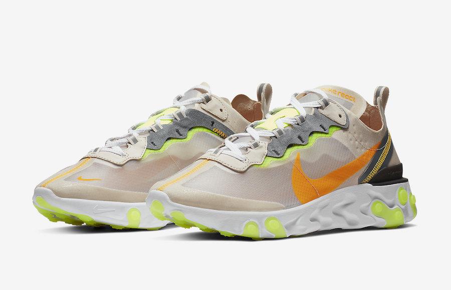 AQ1090 101 Nike React Element 87 Laser Orange 1