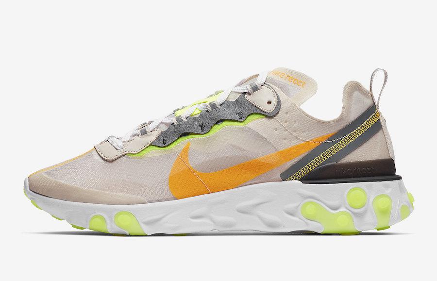 AQ1090 101 Nike React Element 87 Laser Orange 2