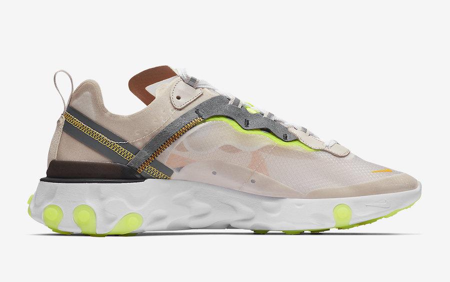 AQ1090 101 Nike React Element 87 Laser Orange 3