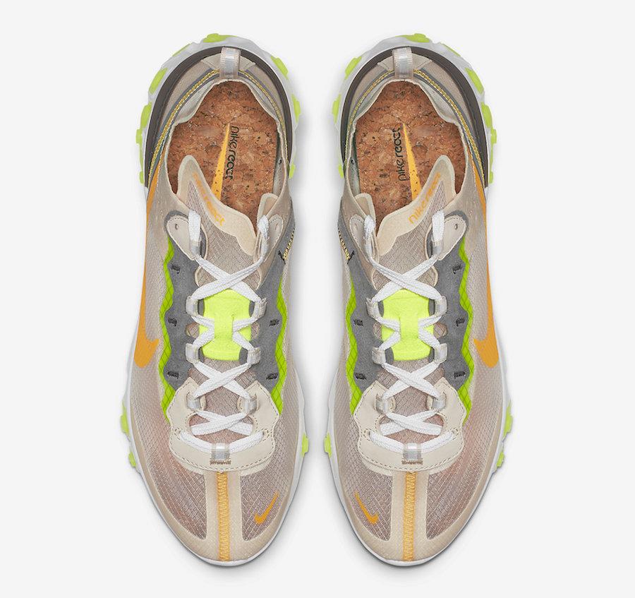 AQ1090 101 Nike React Element 87 Laser Orange 4