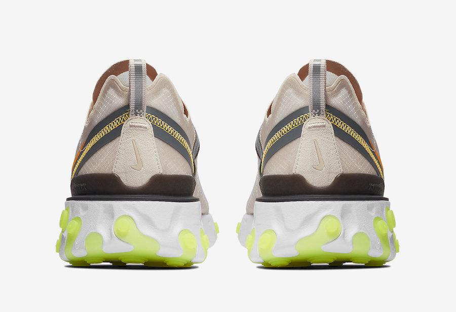 AQ1090 101 Nike React Element 87 Laser Orange 5