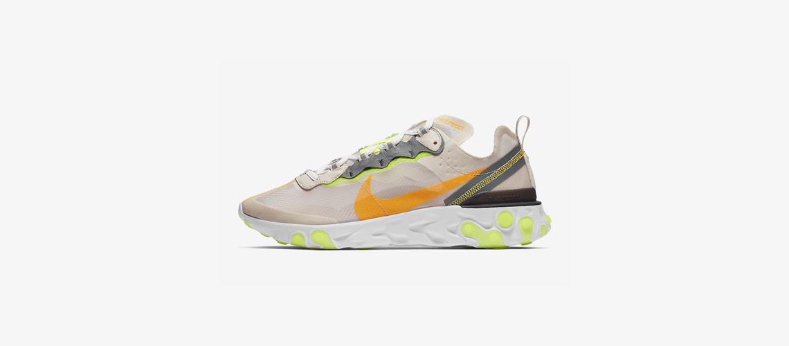 AQ1090 101 Nike React Element 87 Laser Orange
