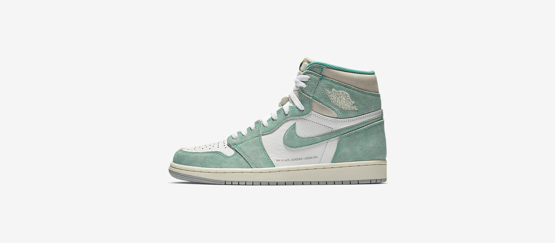 555088 311 Air Jordan 1 High OG Turbo Green