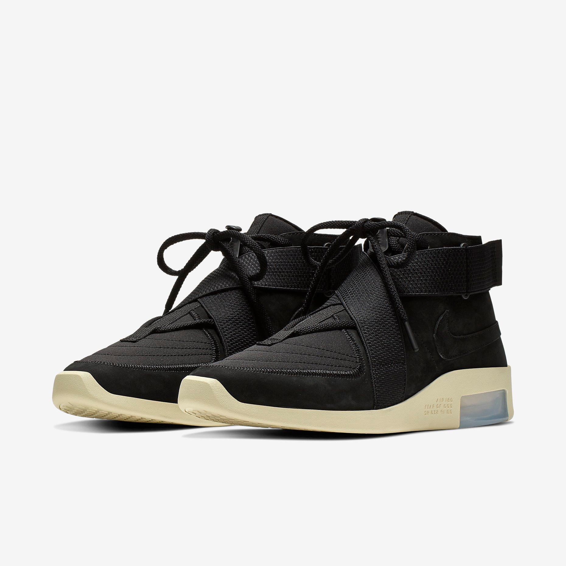 Fear of God x Nike Air 1 Black 3