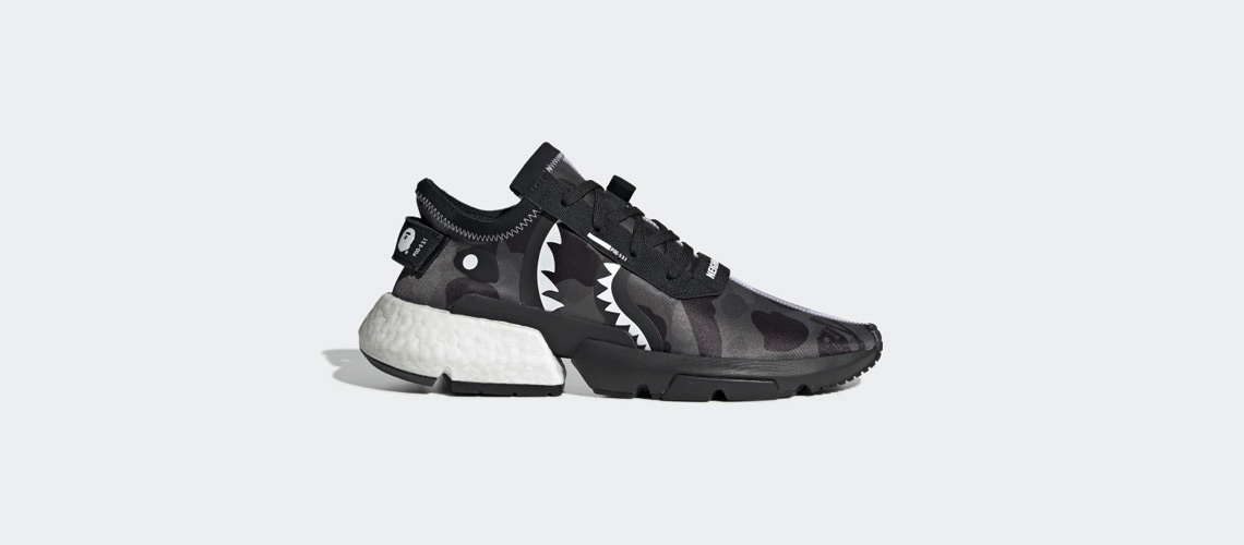 NEIGHBORHOOD x BAPE x adidas POD-S3.1