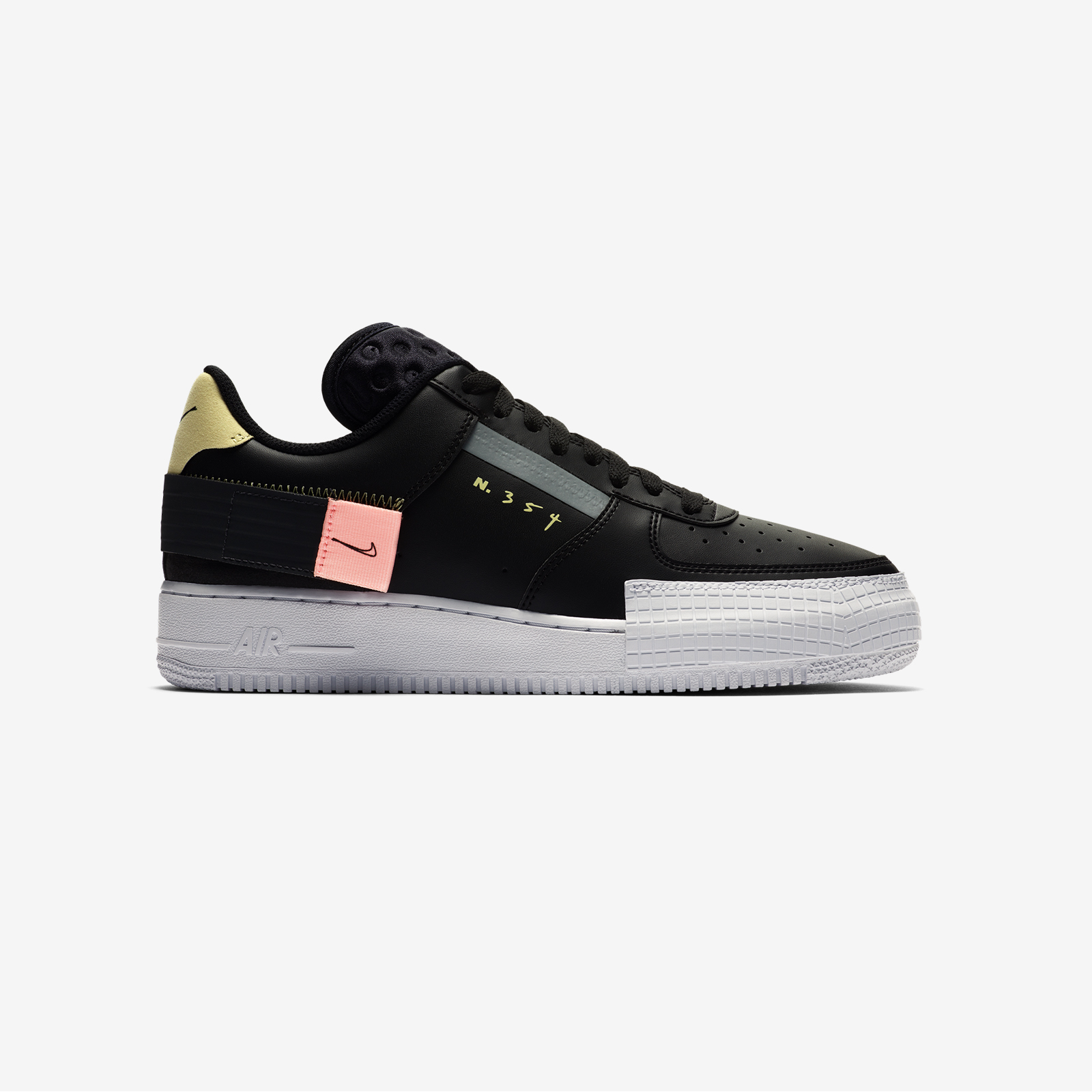 CI0054 001 Nike Air Force 1 Type Black 2