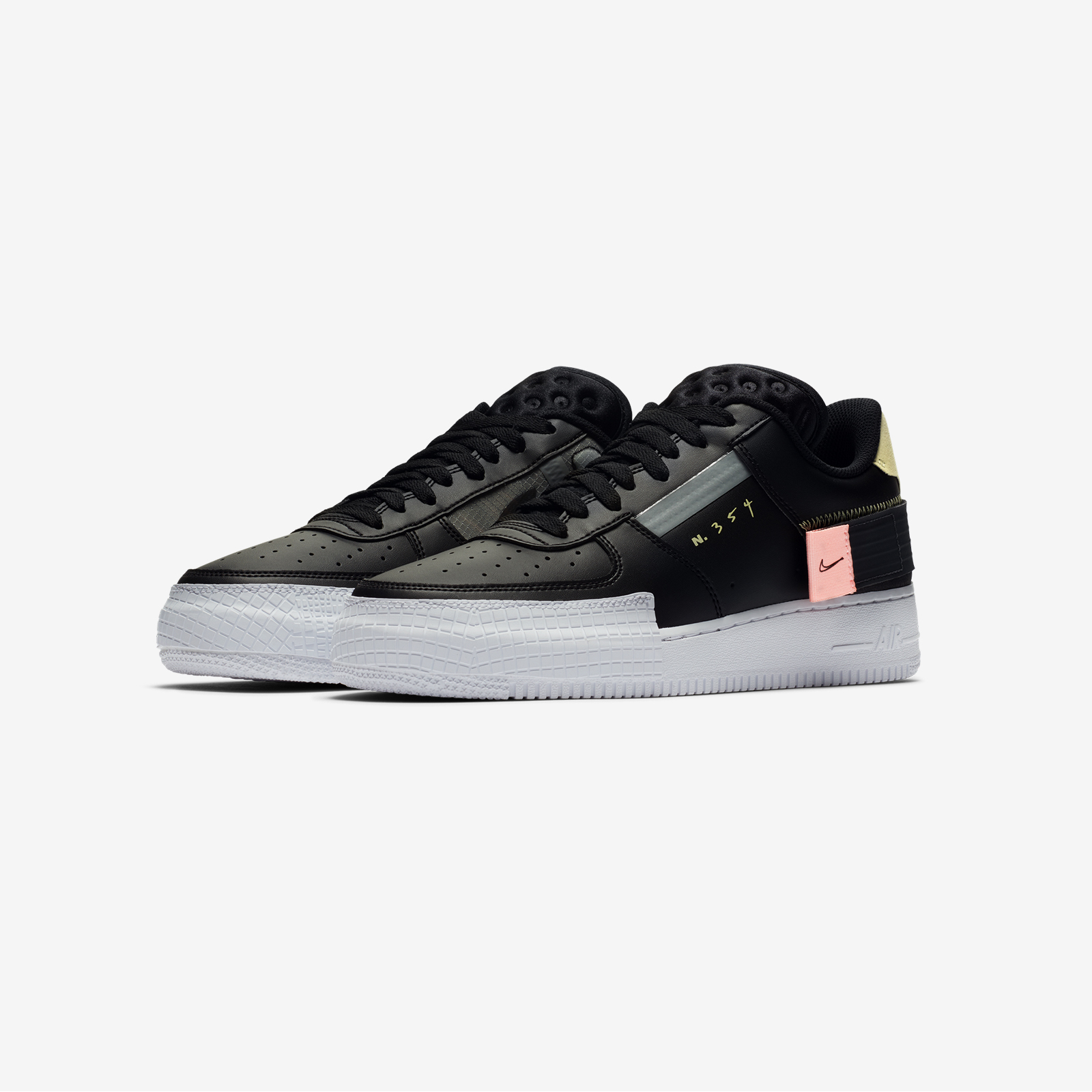 CI0054 001 Nike Air Force 1 Type Black 3