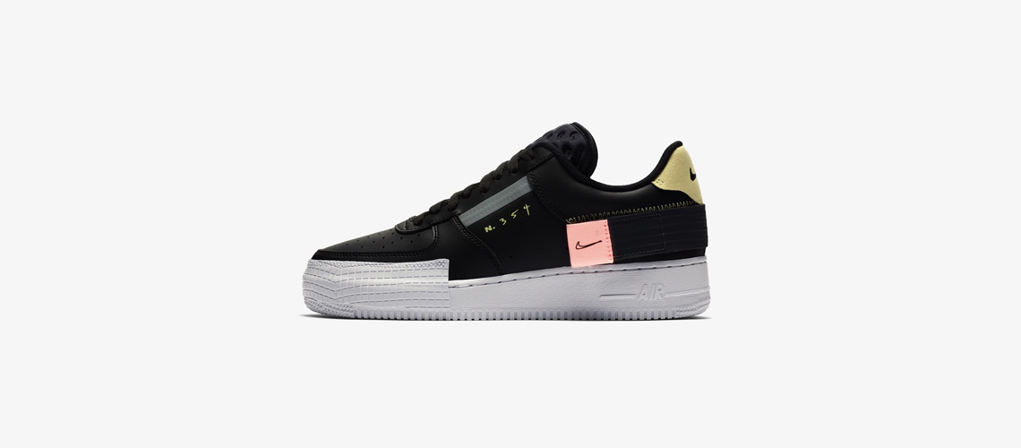 CI0054 001 Nike Air Force 1 Type Black