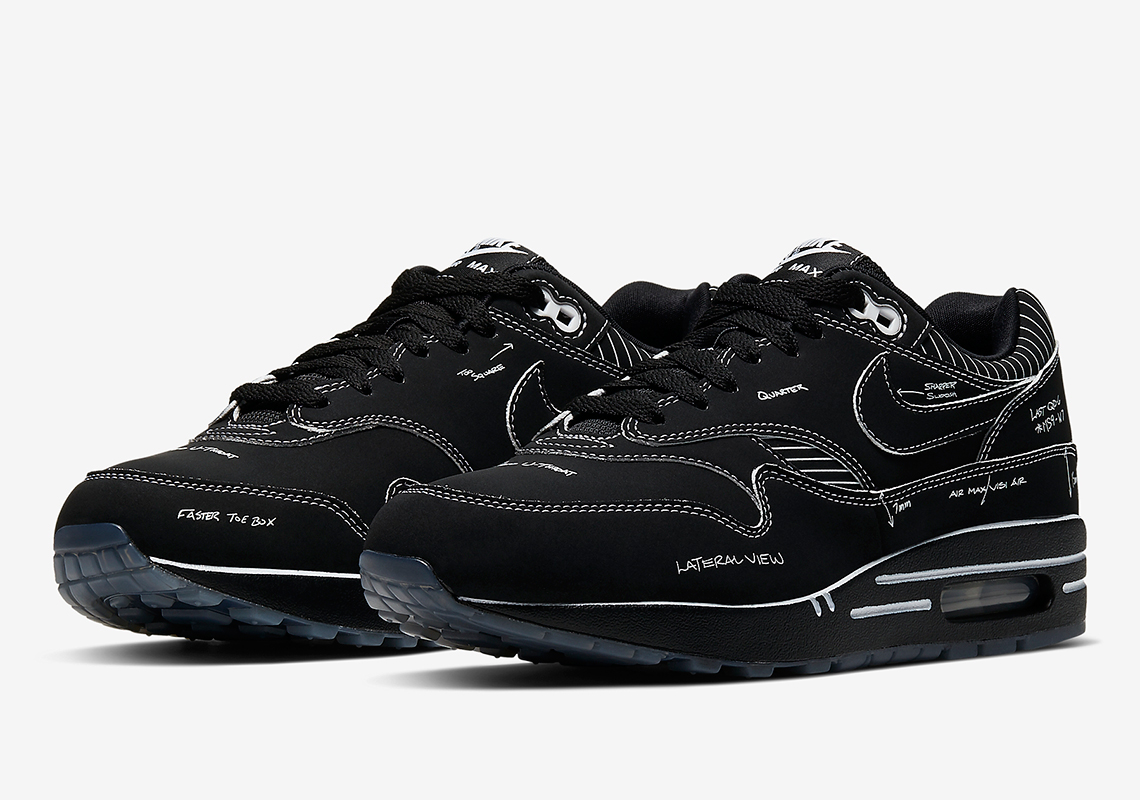 CJ4286 001 Nike Air Max 1 Sketch To Shelf Black 2