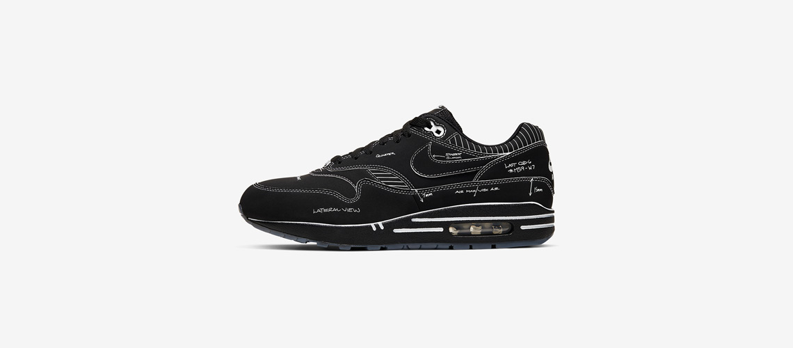 CJ4286 001 Nike Air Max 1 Sketch To Shelf Black