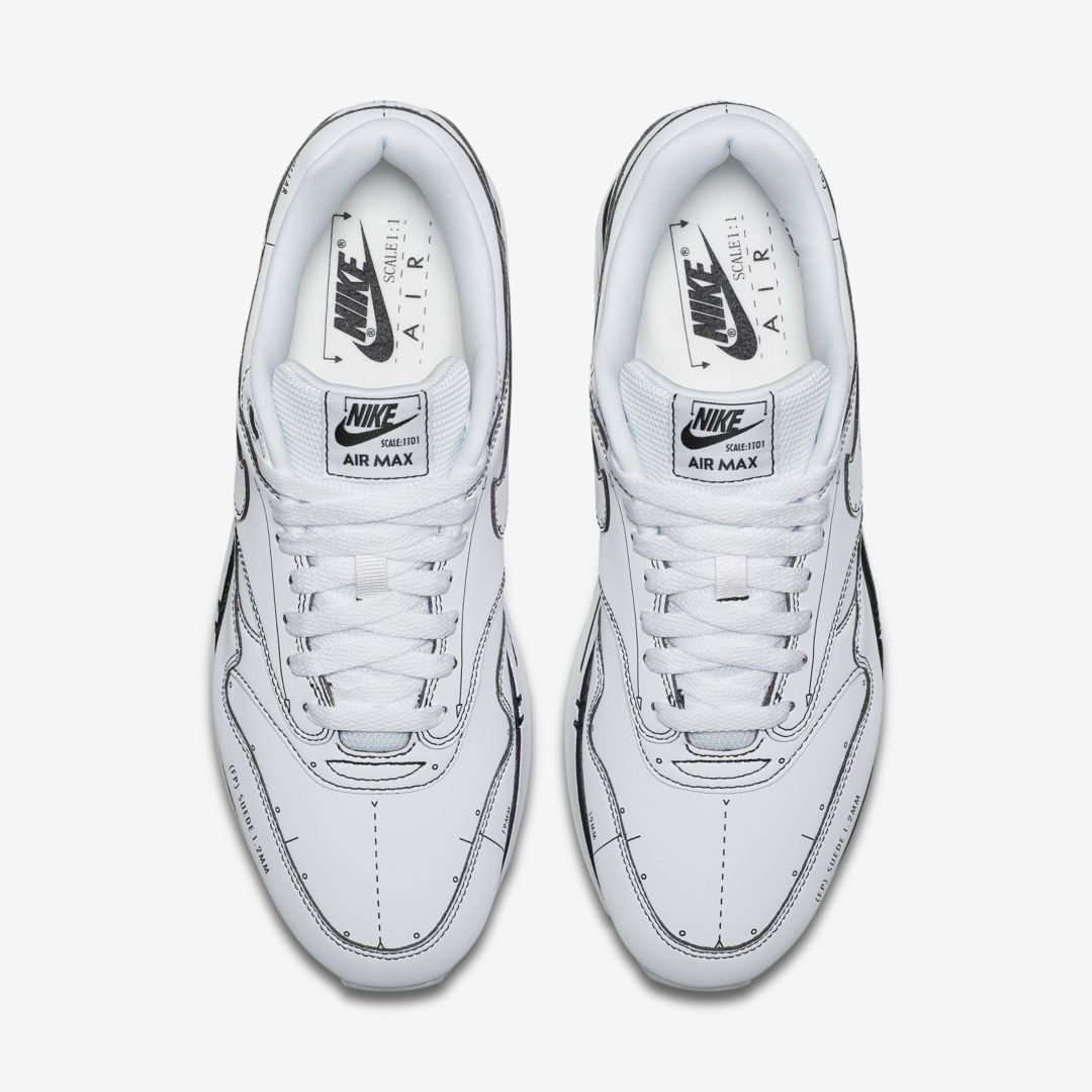 CJ4286 100 Nike Air Max 1 Sketch To Shelf White 3