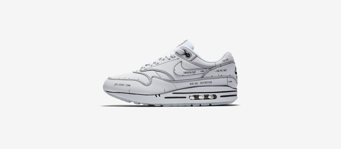 CJ4286 100 Nike Air Max 1 Sketch To Shelf White